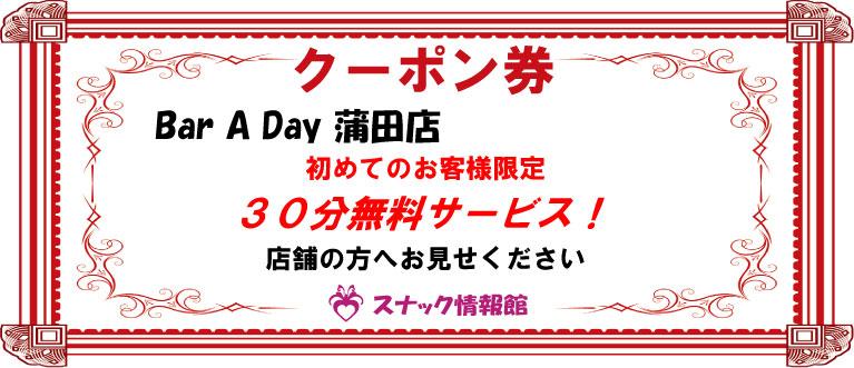【蒲田】Bar A Day 蒲田店クーポン券